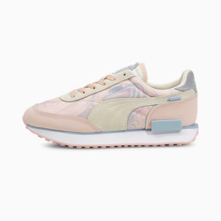 Zapatos deportivos Future Rider Marble para mujer, Lotus-Ivory Glow, pequeño