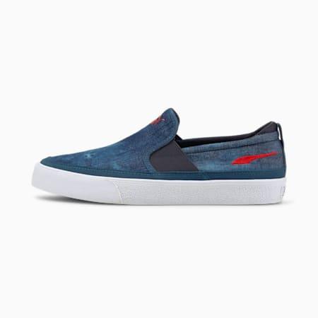 Zapatos deportivos sin cordones Bari Z Indigo, Puma New Navy-High Risk Red, pequeño