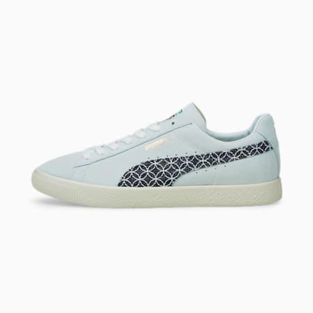 Zapatos deportivos Suede VTG MIJ Sashiko, Vaporous Gray-Intense Blue, pequeño