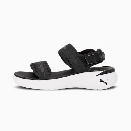 Sportie Women's Sandals, Puma Black-Puma White, small-IND