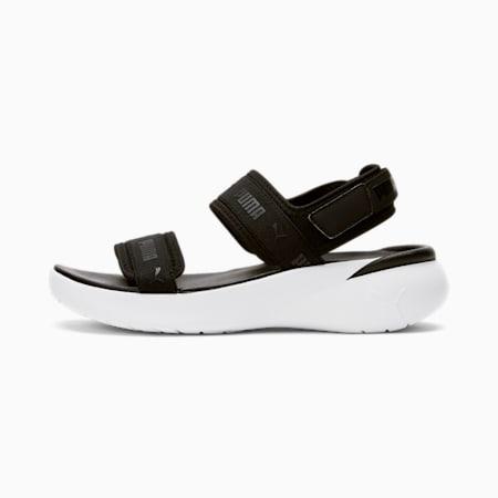 Sandales Sportie, femme, noir PUMA-blanc PUMA, petit