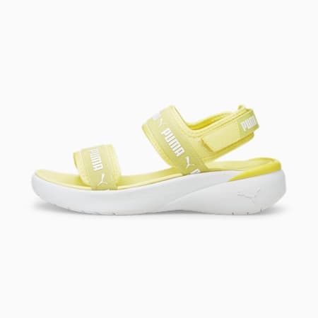 Sportie Women's Sandals, Yellow Pear-Puma White, small-IND
