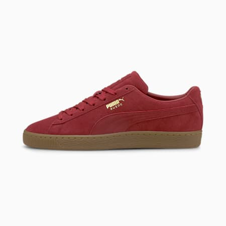 Suede Gum Trainers, Intense Red-Gum, small