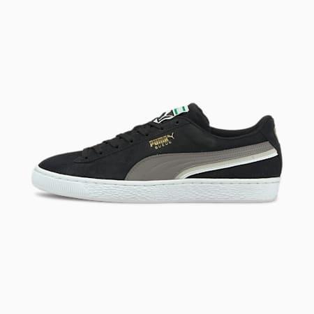 Zapatos deportivos Triplex de gamuza, Puma Black-Steel Gray-Puma White, pequeño