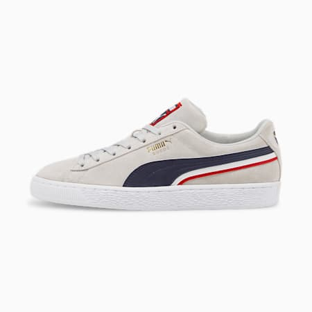 Zapatos deportivos Triplex de gamuza, Gray Violet-Puma New Navy-Puma White, pequeño