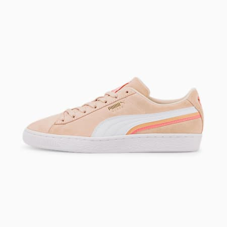 Suede Triplex Trainers, Rosewater-Peony-Puma White, small