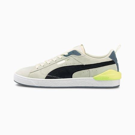 Suede Bloc sportowe, Ivory Glow-Puma Black, small