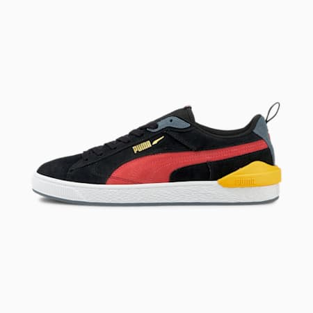 Suede Bloc Trainers, Puma Black-Paradise Pink, small