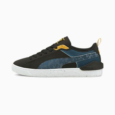 PUMA x FIRST MILE Colour Block Unisex Sneakers, Puma Black-Intense Blue, small-IND
