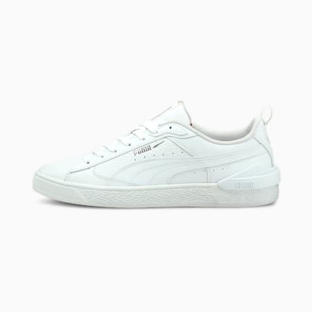 Suede Colour Block Black & White Unisex Sneakers, Puma White-Gray Violet, small-IND
