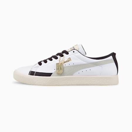 Basket Vintage Basket Unisex Shoes, Puma White-Puma New Navy-Eggnog, small-IND