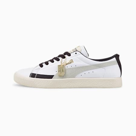 Zapatos deportivos Rudolf Dassler Legacy Laundry Boys Basket VTG, P whit-Puma New Navy-Eggnog, pequeño