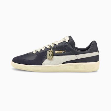 Army Trainer Unisex Shoes, Puma New Navy-Puma White-Eggnog, small-IND