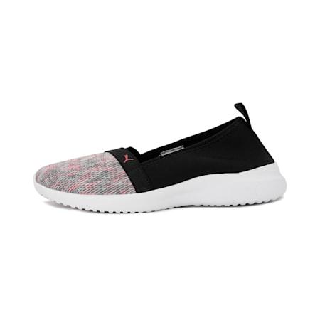 Adelina Ink Splash Women's Slip-On Shoes, Puma White-Puma Black-Virtual Pink, small-IND