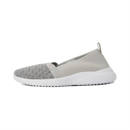Adelina Ink Splash Women's Slip-On Shoes, Puma White-Gray Violet-Sun Kissed Coral, small-IND
