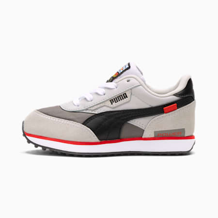 PUMA x NINTENDO Future Rider NES™ Kids Sneaker, Gray Violet-Puma Black, small
