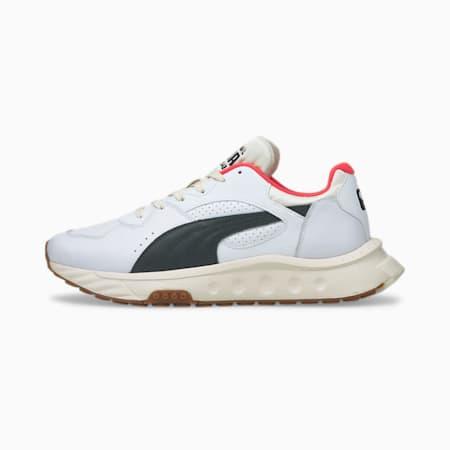 Zapatos deportivos PUMA x PUMA Wild Rider, Puma White-Puma Black-Whisper White, pequeño