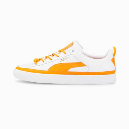 PUMA x PRONOUNCE Basket Vintage Trainers, Puma White-Vibrant Orange, small