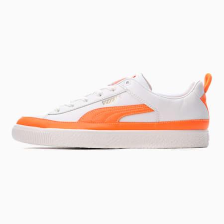 PUMA x PRONOUNCE バスケット ビンテージ スニーカー ユニセックス, Puma White-Vibrant Orange, small-JPN