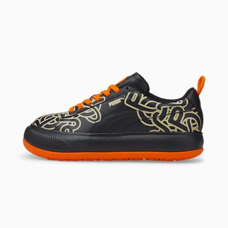 PUMA x PRONOUNCE Suede Mayu Women's Sneakers, Puma Black-Puma Black, small-IND