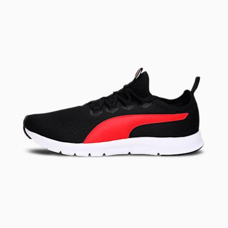 PUMA Nueva Men's Shoes, Puma Black-High Risk Red, small-IND