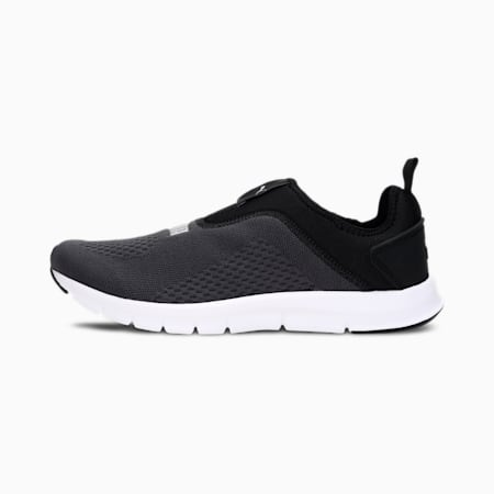 Jako Slip-On Men's Shoes, Puma Black-Puma Silver, small-IND