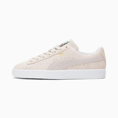 Zapatos deportivos de gamuza Classic XXI para mujer, Marshmallow-Puma White, pequeño