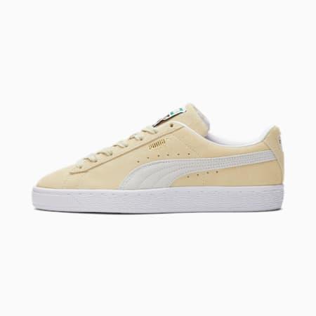 Zapatos deportivos de gamuza Classic XXI para mujer, Transparent Yellow-Puma White, pequeño