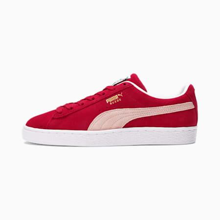 Zapatos deportivos de gamuza Classic XXI para mujer, Persian Red-Lotus-Puma White, pequeño