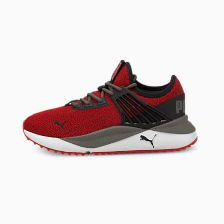 Zapatos deportivos de punto Pacer Future JR, High Risk Red-Puma Black, pequeño