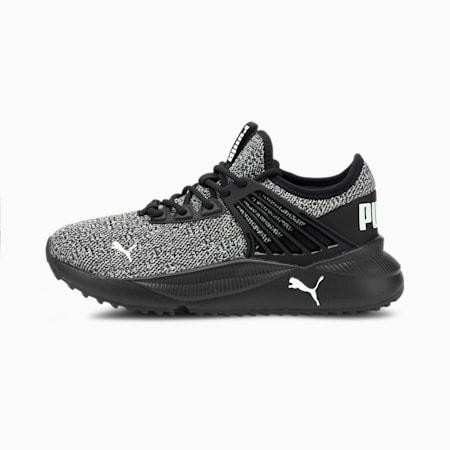 Zapatos deportivos de punto Pacer Future JR, Puma Black-Puma White, pequeño