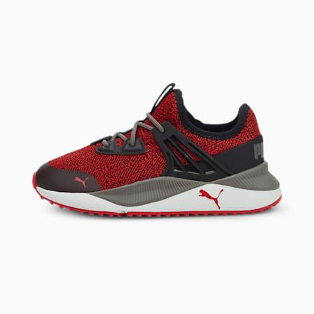 Zapatos deportivos Pacer Future Knitpara niño pequeño, High Risk Red-Puma Black, pequeño