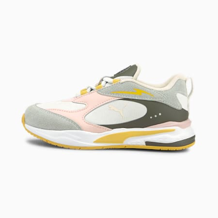 Time4Change RS-Fast Kids' Trainers, Puma White-Lotus, small