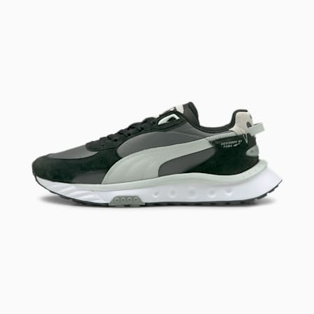 Wild Rider Rollin' Sneakers, Puma Black-CASTLEROCK, small