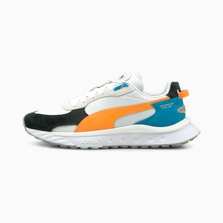 Wild Rider Rollin' Sneakers, Puma White-Orange Glow, small-GBR