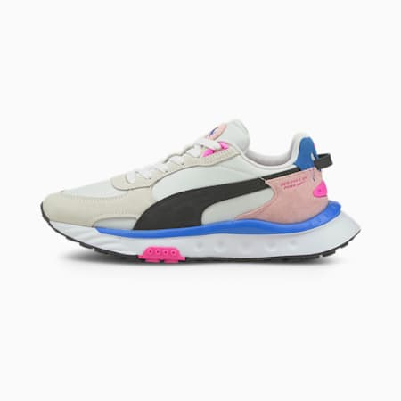 Wild Rider Rollin' Sneakers, Puma White-Pink Lady, small-GBR