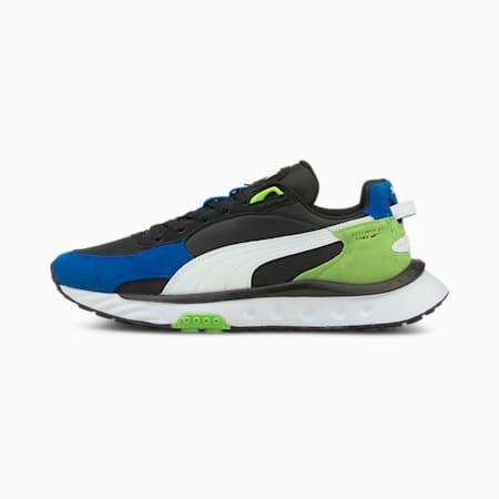 Wild Rider Rollin' Sneaker, Future Blue-Puma Black, small