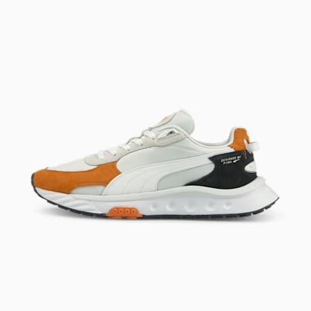 Wild Rider Rollin' Sneakers, Vibrant Orange-Puma White, small-GBR