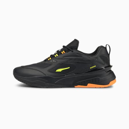 PUMA x RS-Fast Double Unsiex Sneakers, Puma Black-Yellow Glow-Orange Glow, small-IND