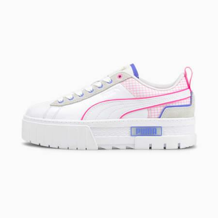 Mayze Tech Women's Trainers, Puma White-Luminous Pink, small-SEA