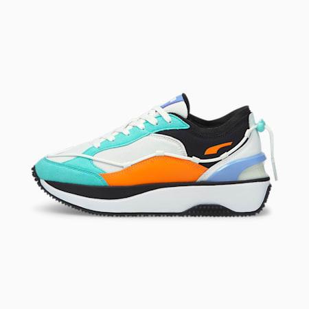 Cruise Rider Lace Women's Shoes, Puma White-Elektro Aqua, small-IND