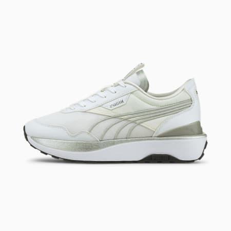 Zapatos deportivos Cruise RiderMetal para mujer, Puma White-Puma Silver, pequeño