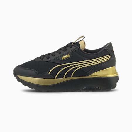 Zapatos deportivos Cruise RiderMetal para mujer, Puma Black-Puma Team Gold, pequeño