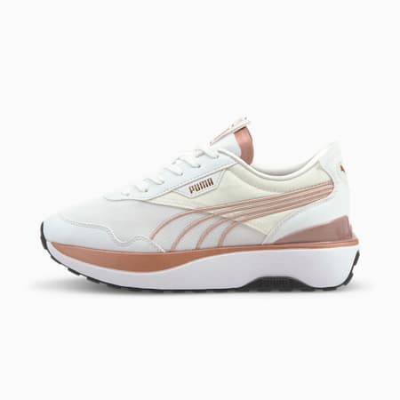 Cruise Rider Metal Women's Trainers, Puma White-Rose Gold, small-GBR