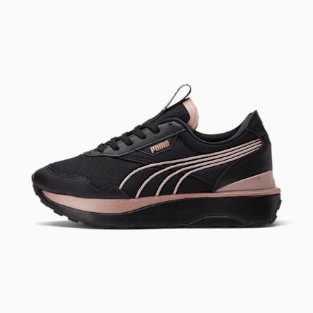 Zapatos deportivos Cruise RiderMetal para mujer, Puma Black-Rose Gold, pequeño