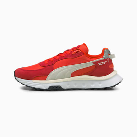 Wild Rider Pickup Unisex Sneakers, Urban Red-Puma Red, small-IND