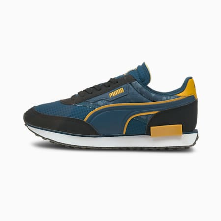 Zapatos deportivos PUMA x FIRST MILE Future Rider, Puma Black-Intense Blue, pequeño