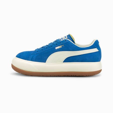 Suede Mayu UP Women's Sneakers, Lapis Blue-Marshmallow, small-GBR