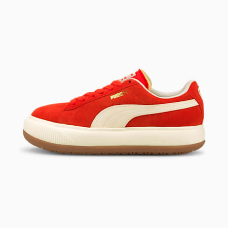 Suede Mayu UP Women's Sneakers, Grenadine-Marshmallow, small-GBR