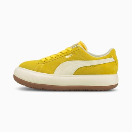 Suede Mayu UP Women's Sneakers, Super Lemon-Marshmallow-Gum 3, small-GBR